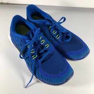 Nike Free 5.0 Blue Athletic Sneakers Running Shoes